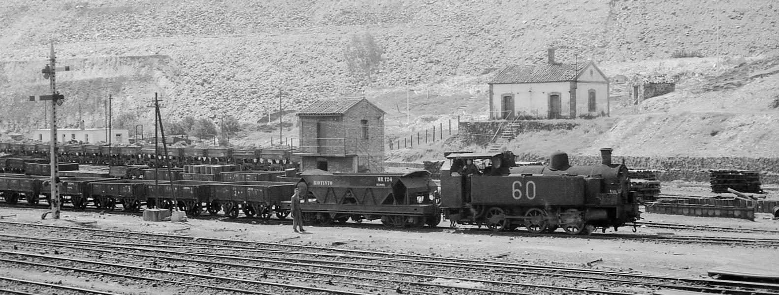 Maquina de vapor en las minas de Riotinto.