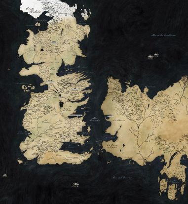 mapa Juego de tronos